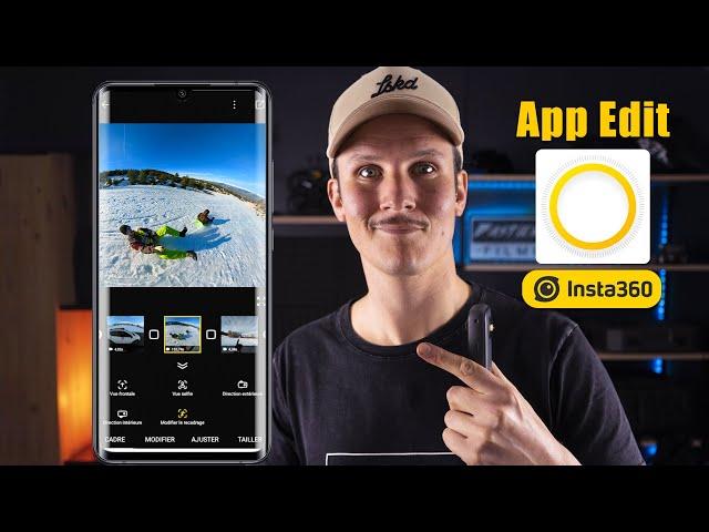 Comment réaliser un montage vidéo 360 avec l'application Insta360