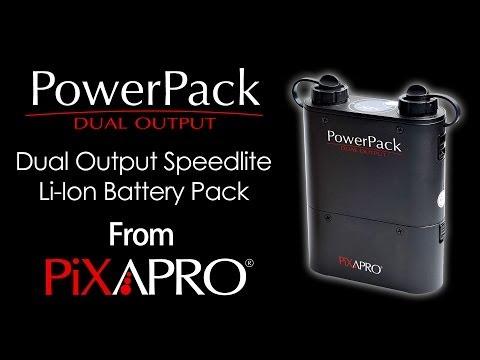 PIXAPRO Power Pack Dual Output Battery Pack For Speedlites Studio Lighting Equipment
