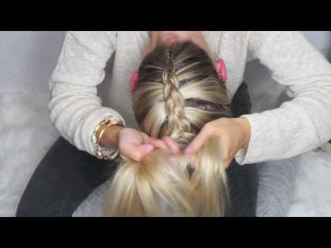 Upside Down Dutch Braid into a Bow on Medium Hair
