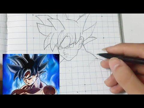 Cách vẽ Goku Bản năng vô cực từ bức ảnh Goku Bản năng vô cực đẹp