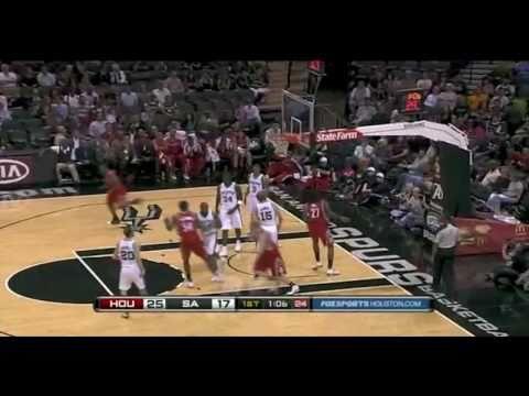 Rockets vs Spurs 2010 NBA Preseason 10/21/2010