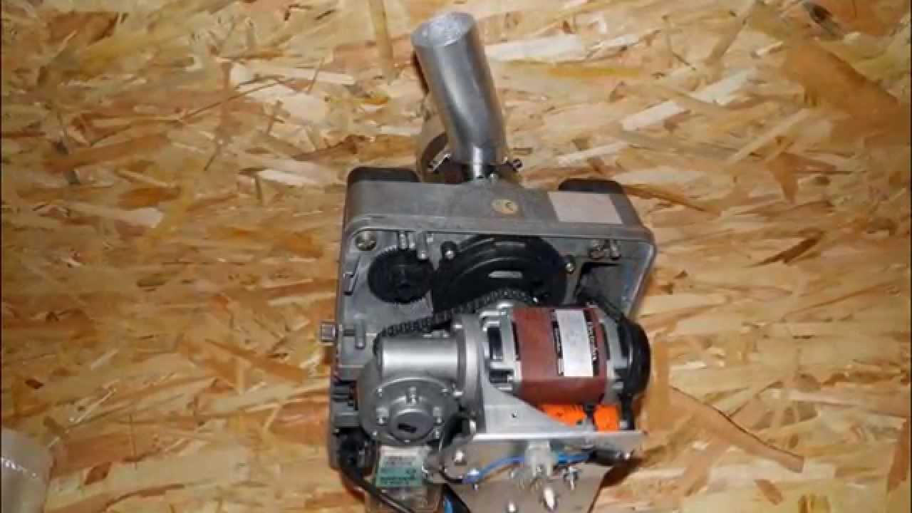 Diy Sawdust Pellet Burner On Central Heating Stove First Burn Test You