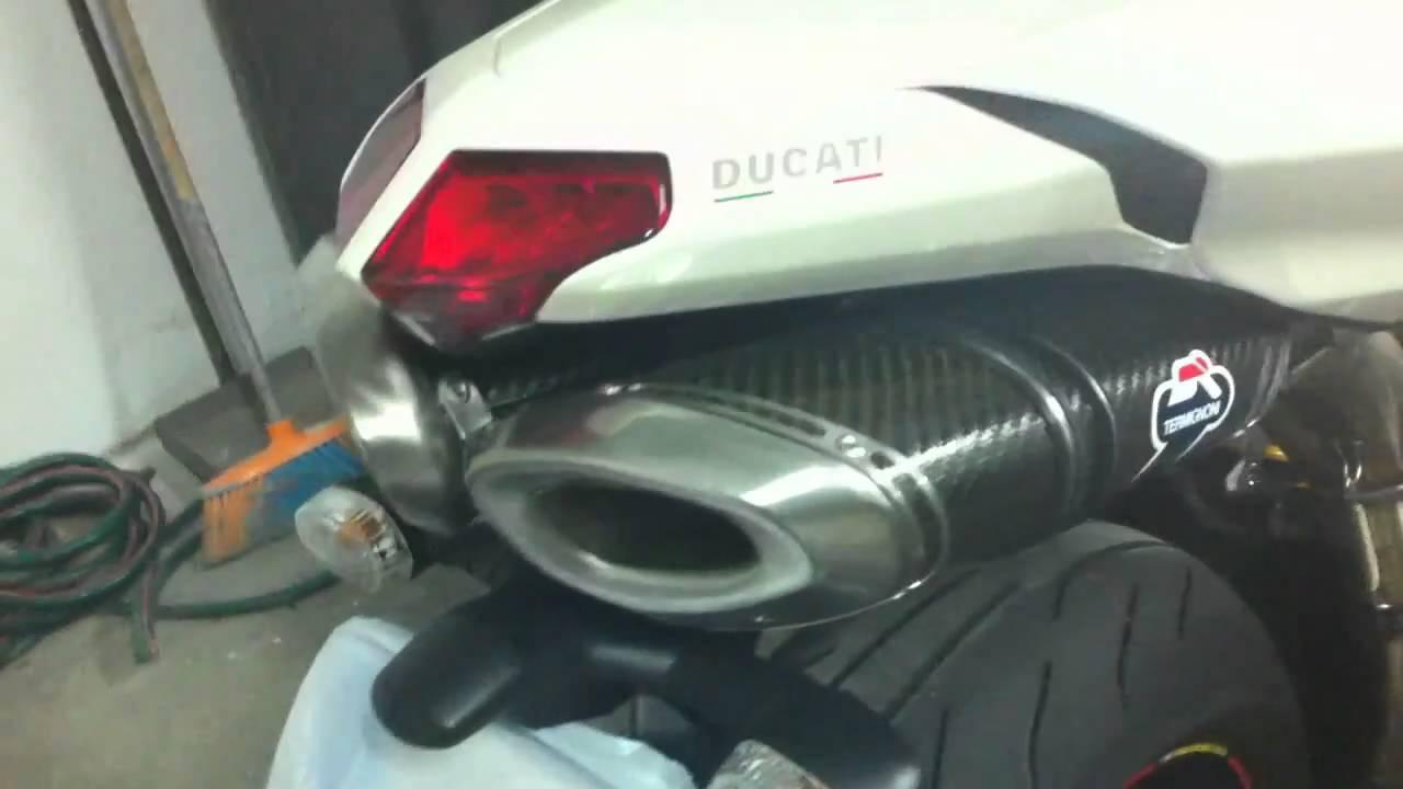 ducati 1198s termignoni full exhaust & 848 slip-on - youtube