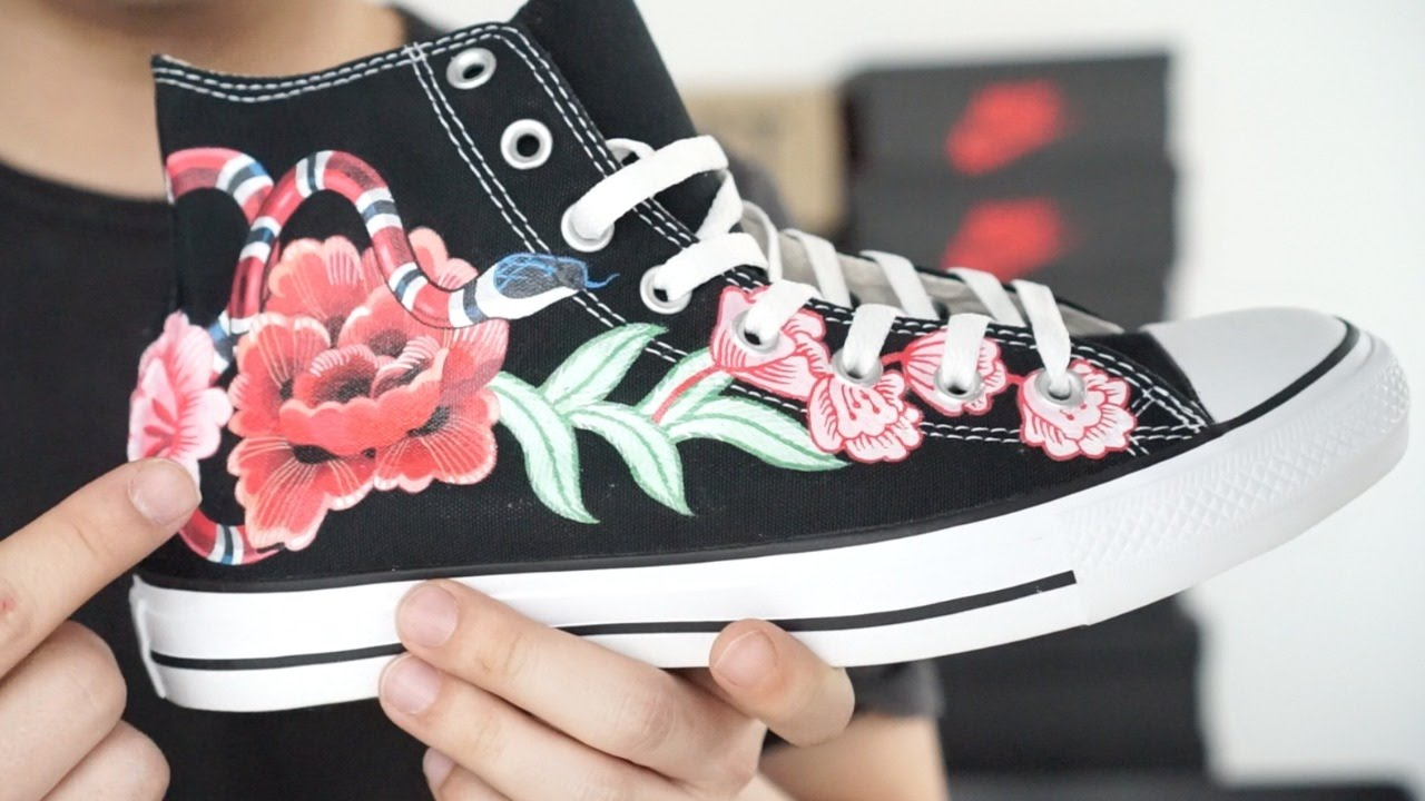 175da312e691 CUSTOM   CONVERSE x GUCCI - BEST CUSTOM EVER !! - YouTube