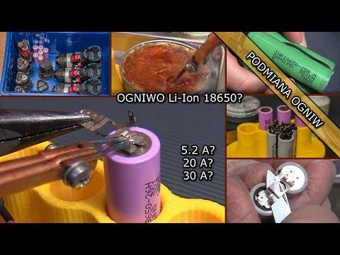 Wymiana ogniw w akumulatorze wkrętarki. Lutowanie ogniw Li-Ion 18650.