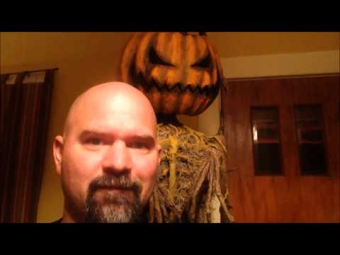The Race to Halloween Pumpkin Scarecrow is done
