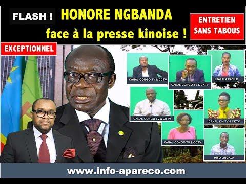 Honoré NGBANDA Face à la Presse Kinoise: Un entretien Exceptionnel et Sans Tabous Samedi 17/03/2018