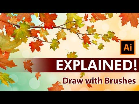 Create an Autumn Vector Illustration with Maple leaves - Adobe Illustrator Tutorial