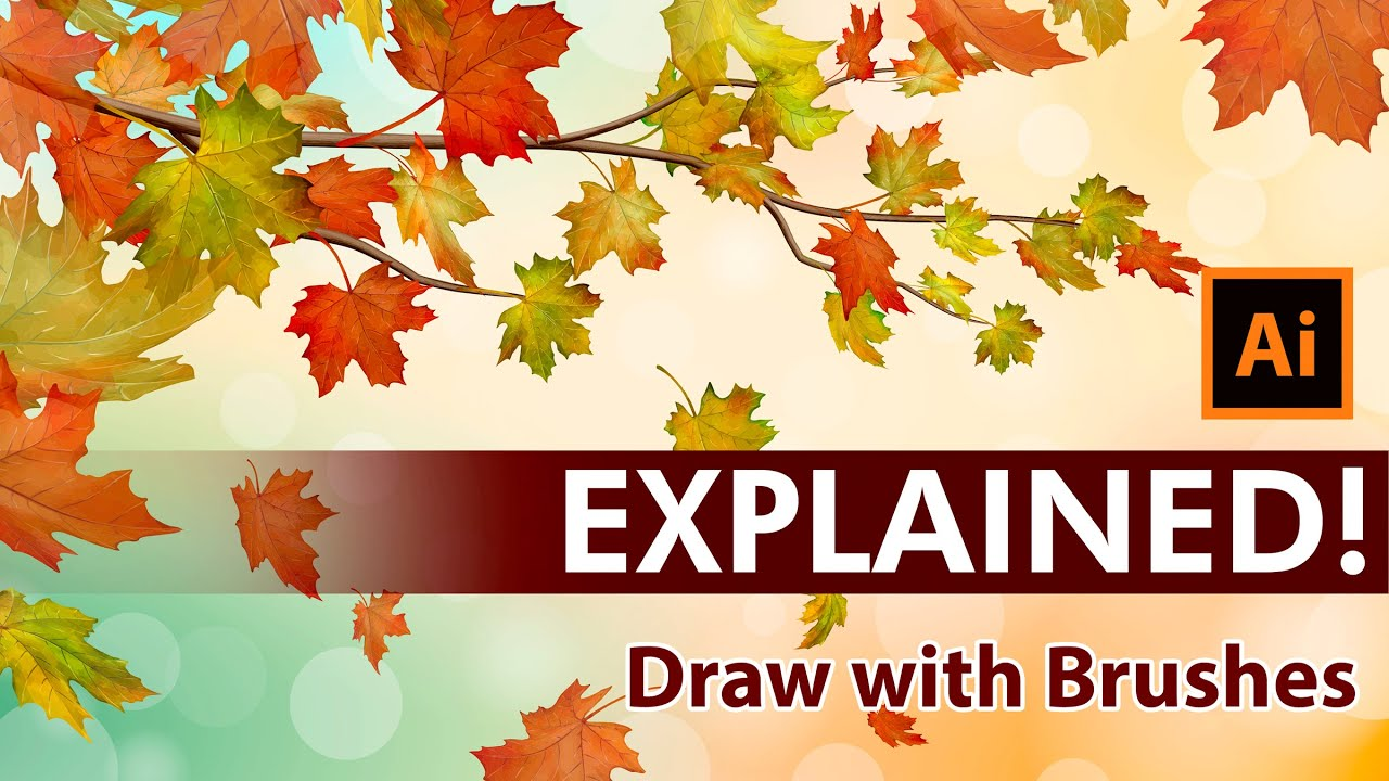 Create an Autumn Vector Illustration with Maple leaves ...