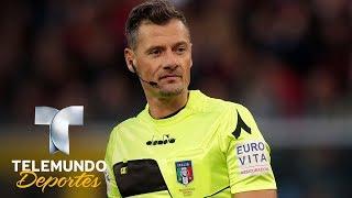 Hinchas de Lazio sacan tarjeta roja a Piero Giacomelli   Más Fútbol   Telemundo Deportes