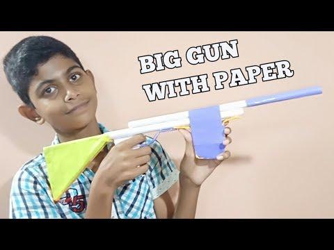 How to Make Big Gun With Paper Easy | Fun Creative Kids
