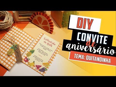 Como fazer Convite Quitandinha / Frutaria / Pic Nic? - DIY | Faça você mesmo [Aniversário Infantil]