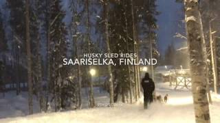 This video is about Husky Sled Rides, Finland.