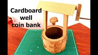 How to Make a Cardboard well coin bank