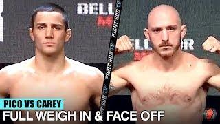 AARON PICO VS DANIEL CAREY - FULL WEIGH IN & FACE OFF VIDEO | BELLATOR 238