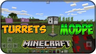 Preview - Utilities Turrets - ModPE - Minecraft PE 0.17