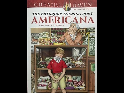 Creative Haven's The Saturday Evening Post Americana Coloring Book