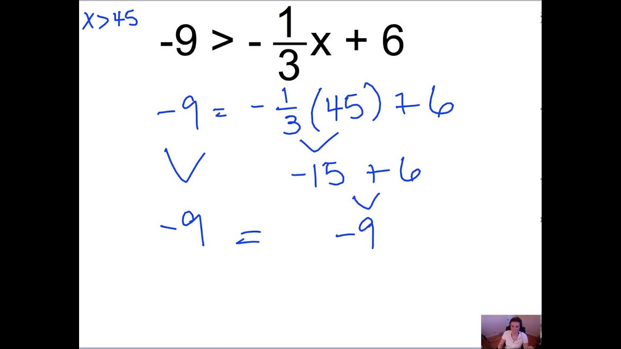 worksheet Two Step Inequalities pre algebra 7 6 solving two step inequalities mp4 youtube mp4