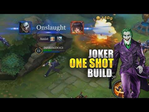 JOKER ONE SHOT BUILD - CODE GIVEAWAYS - ARENA OF VALOR GAMEPLAY
