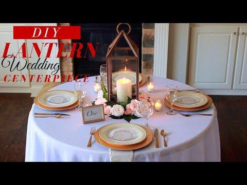 DIY | Lantern Wedding Centerpieces | How to Make a Lantern Centerpiece with Flowers