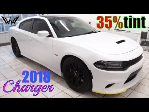 35% Tint on a 2018 Dodge Charger ScatPack (winning window tints)