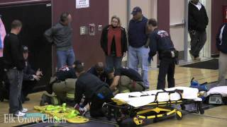 Pleasant Grove High School player knocked unconscious during basketball game Jan. 6, 2010 thumbnail