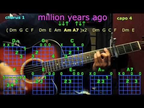 Million years ago adele guitar chords