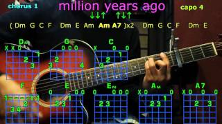 Скачать Million Years Ago Adele Guitar Chords