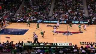 Avery bradley ties shoes, then steals the ball