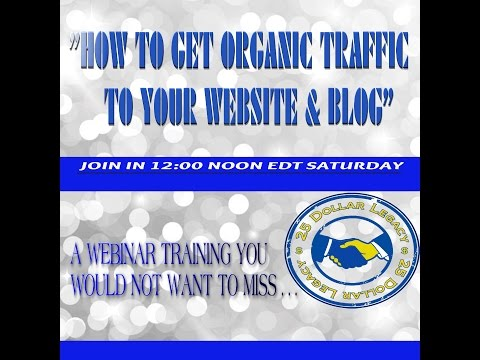 """HOW TO GET ORGANIC TRAFFIC TO YOUR WEBSITE & BLOG"""