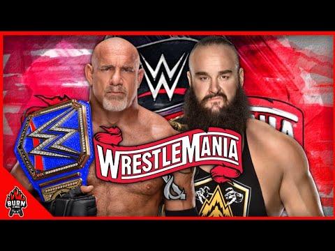 WWE 2K20 GOLDBERG VS BRAUN STROWMAN - WRESTLEMANIA 36