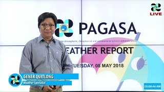 Public Weather Forecast Issued at 4:00 AM May 08, 2018