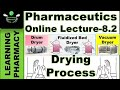 Drying Process ||Part 2 || Pharmacy Online Lecture-8.2 |  Pharmaceutics-Ch-8.2| In Hindi | हिंदी में
