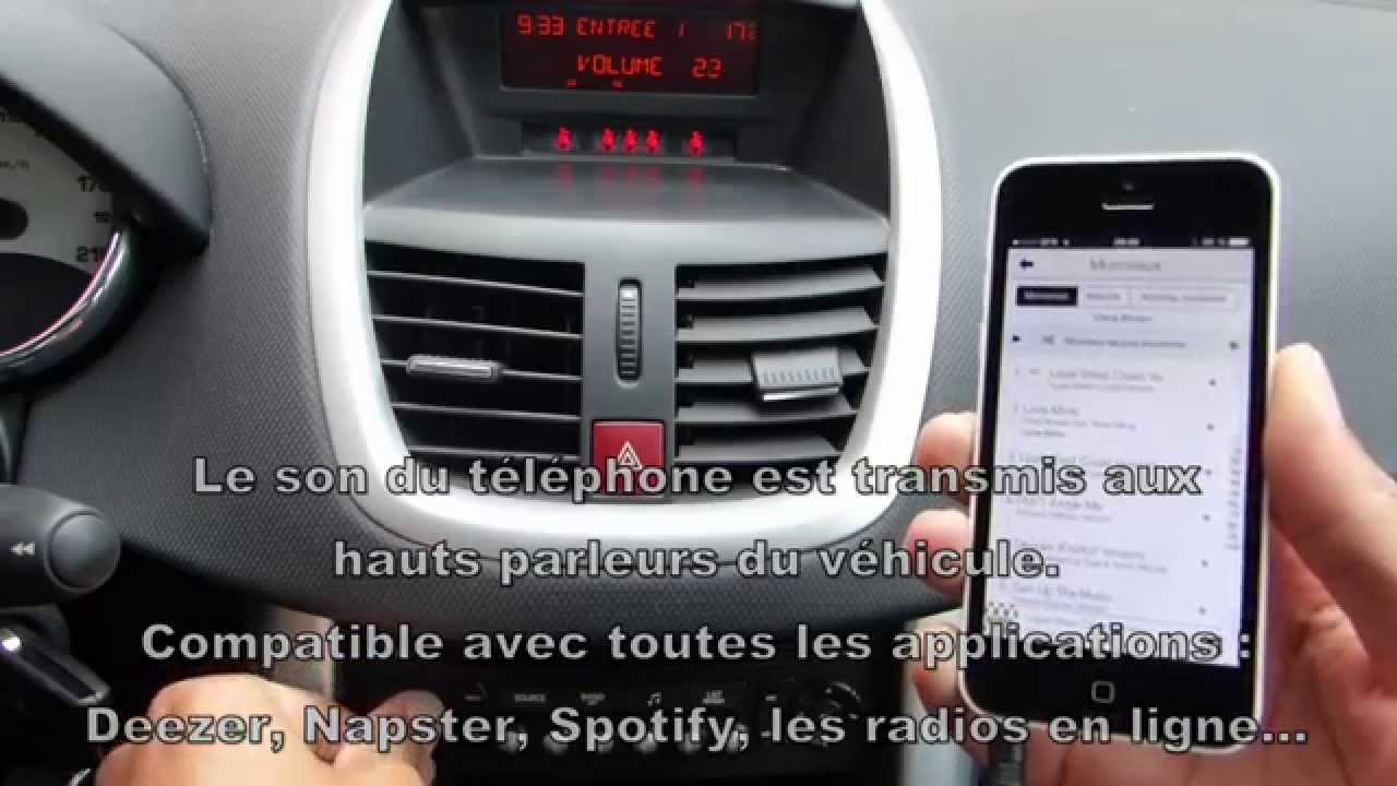 une solution simple pour connecter son smartphone sur l 39 autoradio d 39 origine youtube. Black Bedroom Furniture Sets. Home Design Ideas