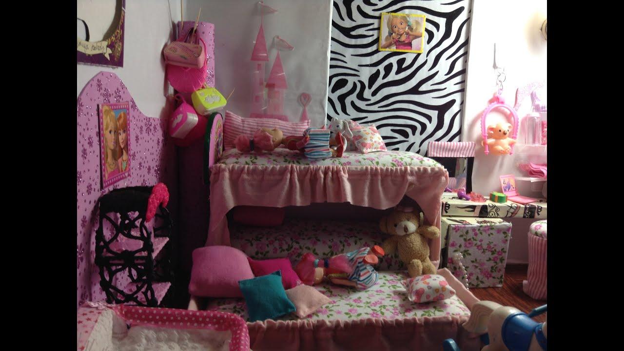 Como hacer una cama para las hijas de tus barbies parte 1 - Hacer cama plegable pared ...