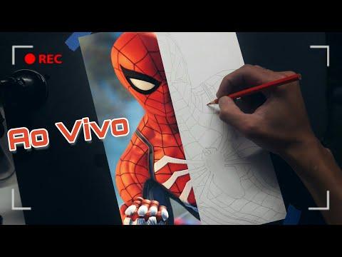 Desenhando O Homem Aranha Ao Vivo