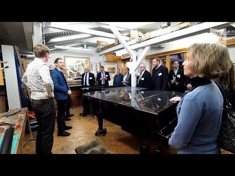 Delegation auf Unternehmensreise besucht Piano Rosenkranz in Oldenburg