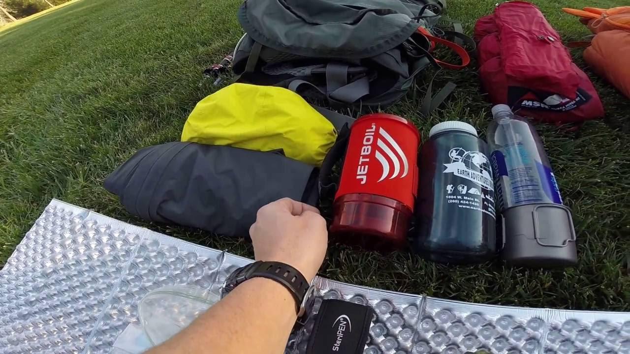 Winter Backpacking gear Run Through - YouTube