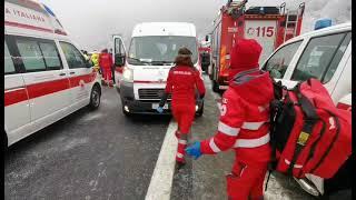 Maxi tamponamento sulla Torino Bardonecchia - Venti veicoli coinvolti - 13 febbraio 2021