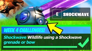 Shockwave Wildlife LOCATION & Shock Wildlife using a Shockwave Grenade or Bow - Fortnite