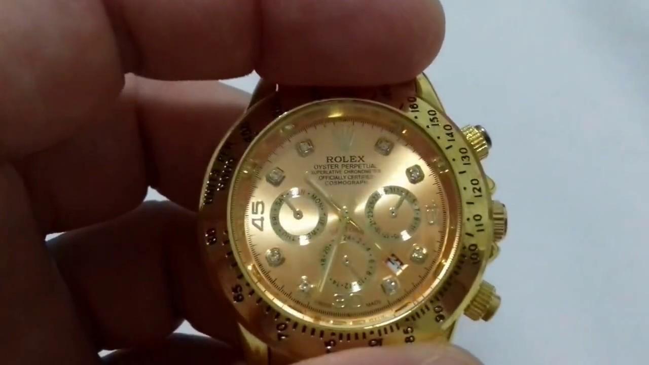 68b24611284 Rolex Daytona Dourado Replica - DHgate