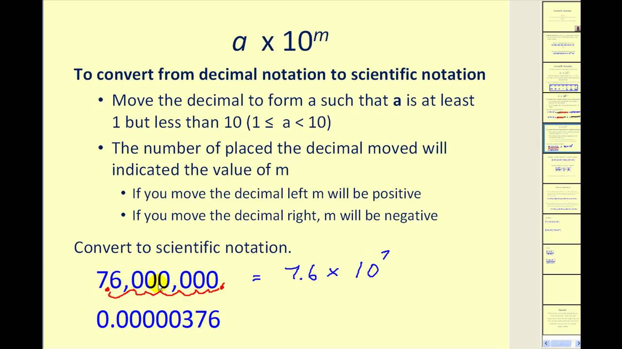 Scientific notation youtube scientific notation falaconquin