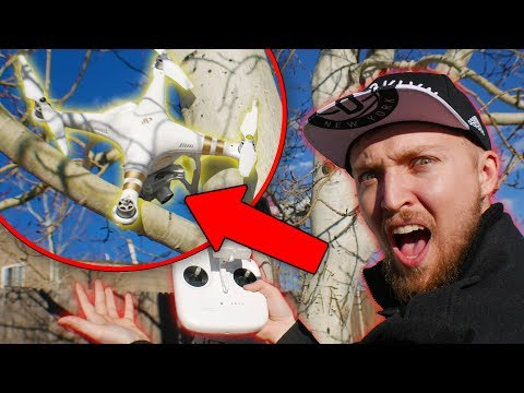 Flying my BRAND NEW DJI Phantom Drone! (GONE WRONG)