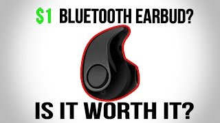 $1 BLUETOOTH Earbud  S530 Bluetooth Earbud Headset Review!