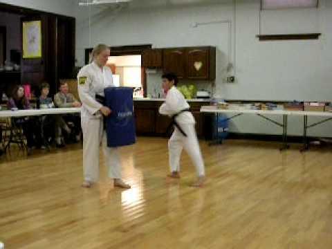 Efren Alejo & Joseph McHugh testing for their Black Belts