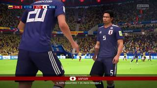 2018 FIFA World Cup Russia - Colombia vs Japan (Full Gameplay)