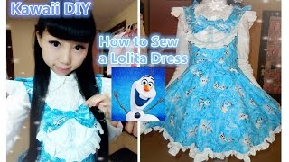 DIY - Disney Frozen Olaf Inspired Costume&Dress (Lolita fashion)