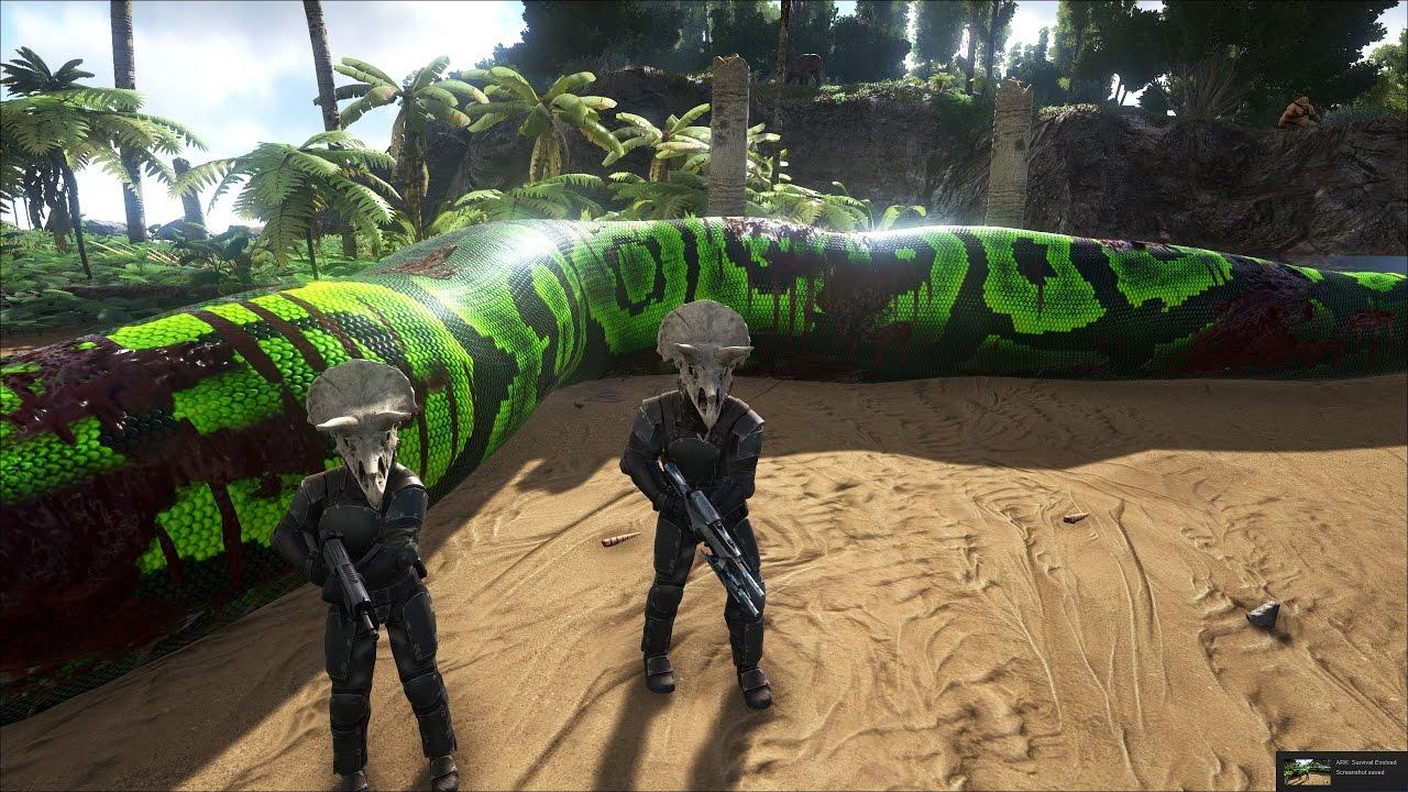 ARK: Survival Evolved Online #14   Tàn Phá Thế Giới Khủng Long, Bắt được  Trăn Khổng Lồ Amazon U003d))