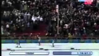 ОИ-2006 Турин финишный спурт Е Дементьева в дуатлоне