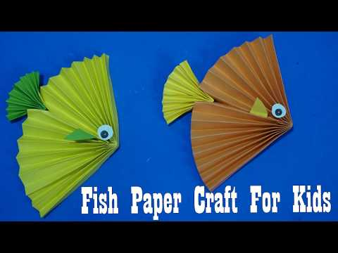Fish Paper Craft For Kids | How To Make A Fish Out Of Origami Paper